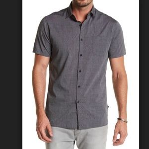 NWOT Nordstrom Short Sleeve Tailored Fit Shirt L
